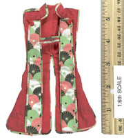 Female Samurai Ryou (Red Armor) - War Vest (Jinbaori)