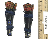 Female Samurai Ryou (Black Armor) - Lower Leg Armor (Suneate)