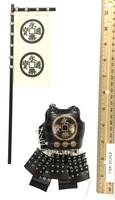Taiko Drum Ashigaru - Body Armor (Tatami Gusoku) w/ Flag (Metal)