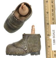 Harry Potter: Sorceror's Stone: Rubeus Hagrid - Shoes (Light Brown) (Giant Size - See Note - Unique Peg Joints)