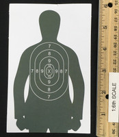 PAP Peoples Armed Police - Shooting Range Target (Paper)