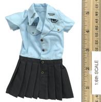 Seamless Pantyhose Skirt Sets - Dress (Blue)