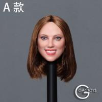 Caucasian Women's Headsculpts (GC033A) - Boxed Accessory (Brown Hair)