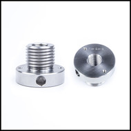 "Threaded adapter (1.25"" x 8  male to 3/4"" x 10 "" female)"