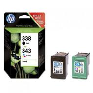 HP Original 338 / 343  Black & Tri-Colour Multipack Set Ink