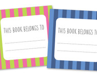 Free Printable Book Title Labels
