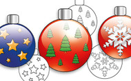 Free Printable Christmas Baubles