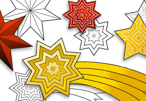 graphic regarding Stars Printable identified as Free of charge Printable Xmas celebrities - Easiest Workplace Products Ltd