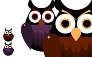 Free Printable Creepy Cut Out Owls