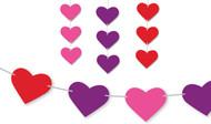 Free Printable Garland Of Hearts