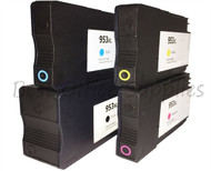 HP 953 XL Remanufactured Ink Cartridges Multipack Pack - High Capacity 4 Colour - Black / Cyan / Magenta / Yellow Ink Cartridges (L0S70AE) (F6U16AE) (F6U17AE) (F6U18AE)