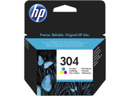 HP 304 Original Tri-Colour Ink Cartridge (N9K05AE, HP 304)