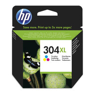 HP 304 XL Original Tri-Colour Ink Cartridge (N9K07AE, HP 304XL)