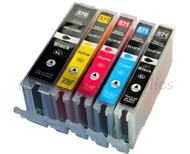 Canon PGI-570 XL / CLI-571 XL Compatible Ink Cartridges Multipack - High Capacity 5 Colour - Black / Black / Cyan / Magenta / Yellow