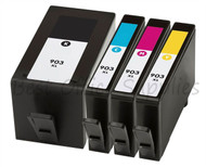 HP 903 XL Remanufactured Ink Cartridges Multipack Pack - High Capacity 4 Colour - Black / Cyan / Magenta / Yellow Ink Cartridges (T6M15AE) (T6M03AE) (T6M07AE) (T6M11AE)