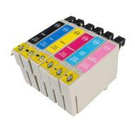 Epson 378XL Compatible Ink Cartridges Multipack - 6 Colour Black / Cyan / Magenta / Yellow / Photo Cyan / Photo Magenta T378XL SQUIRREL INKS Cartridges (C13T37984010)