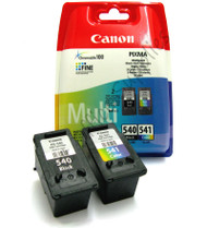 Canon PG-540 / CL-541 Original Black & Tri–Colour Ink Cartridges (5525B006, 5225B006, PG-540, 5225B005AA, CL-541, 5227B005AA)