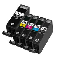 Canon PGI-525 / CLI-526 Compatible Ink Cartridges Multipack - High Capacity 5 Colour - Black / Black / Cyan / Magenta / Yellow