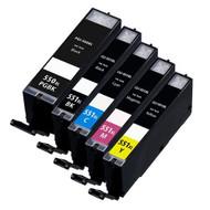 Canon PGI-550 XL / CLI-551 XL Compatible Ink Cartridges Multipack - High Capacity 5 Colour - Black / Black / Cyan / Magenta / Yellow