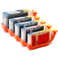 Canon PGI-5 / CLI-8 Compatible Ink Cartridges Multipack - High Capacity 5 Colour - Black / Black / Cyan / Magenta / Yellow