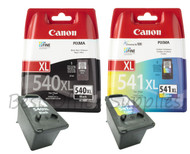 Canon PG-540XL / CL-541XL Original Black & Tri–Colour Ink Cartridges High Capacity (PG-540XL, PG540XL, 5222B005AA, CL-541XL, CL541XL, 5226B005AA)