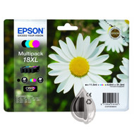 Epson 18XL Original Ink Cartridges Multipack - High Capacity 4 Colour - Black / Black / Cyan / Magenta / Yellow (C13T18164010, C13T18164012, T1816, T181640, Epson 18XL)