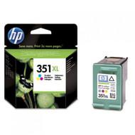 HP 351 XL Original Tri-Colour Ink Cartridges (CB338EE, 351XL, CB338E)