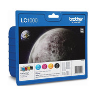 Brother LC1000 Original Ink Cartridges Multipack - High Capacity 4 Colour Black / Cyan / Magenta / Yellow