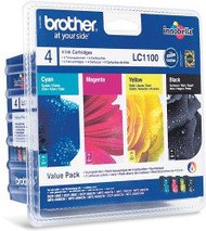 Brother LC1100 Original Ink Cartridges Multipack - High Capacity 4 Colour Black / Cyan / Magenta / Yellow