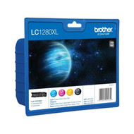 Brother LC1280 XL Original Ink Cartridges Multipack - High Capacity 4 Colour Black / Cyan / Magenta / Yellow