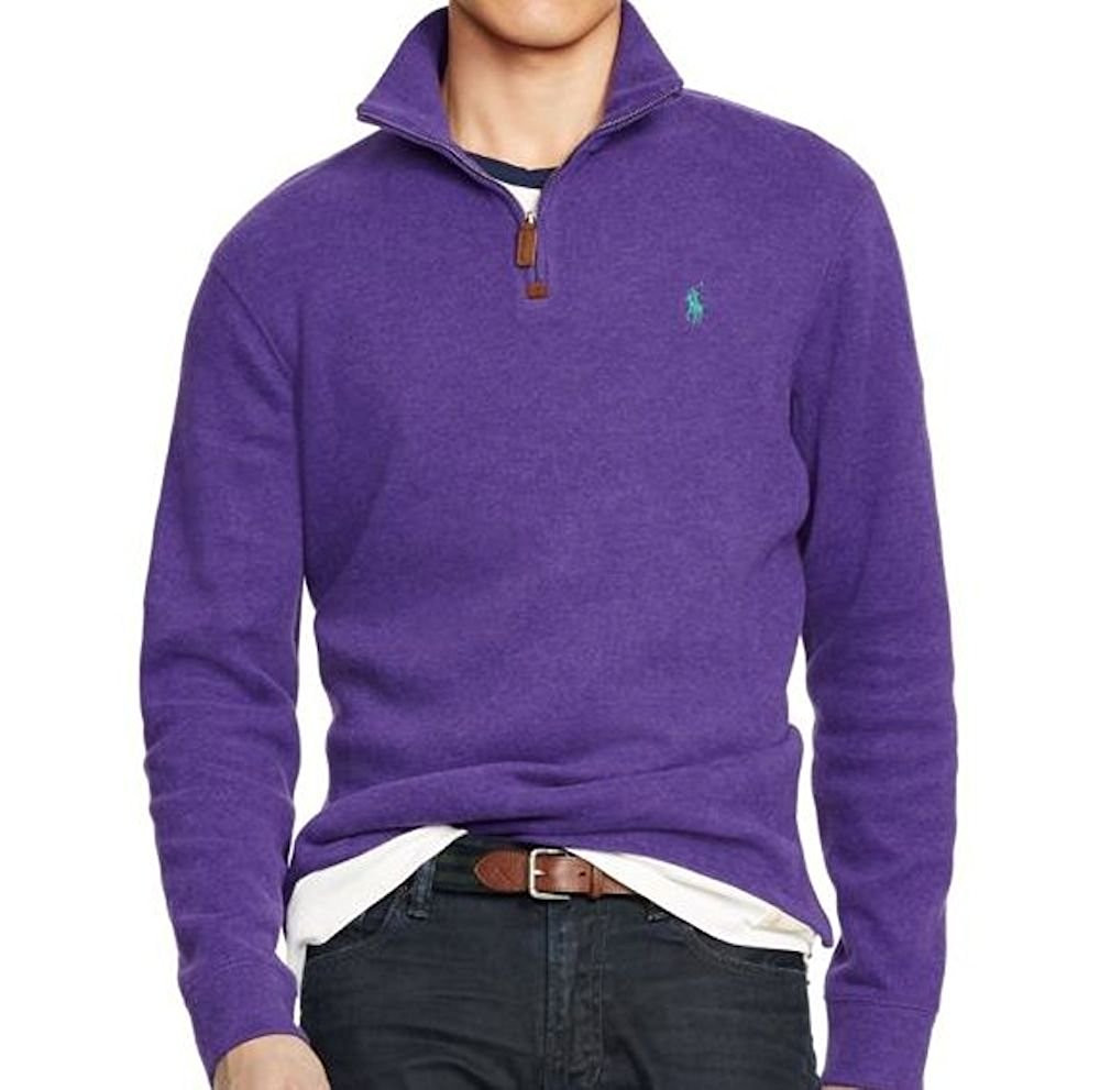 edf6c32d8 Polo Ralph Lauren Men s French Rib Half Zip Pullover. Your Price   79.99  (You save  18.51). Image 1. Larger   More Photos