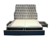 Custom Headboard & Divan with Drawers - ACK#42152