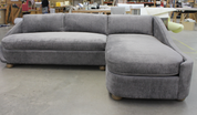 Custom rounded sectional with sleeper ACK # 10338