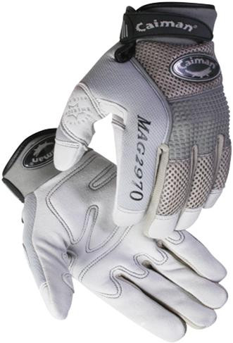 Caiman® Gray Deerskin Leather Mechanics Gloves  ## 2970 ##