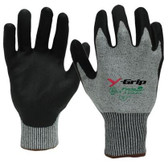 ANSI A4 - Y-GRIP Cut Resistant Polyurethane Coated Gloves  ## F4960 ##