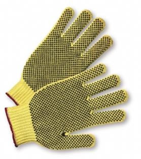 ANSI A2 - PVC Palm Dot Kevlar® String Knit Gloves  ## KV100 ##