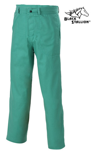 9.5oz Green Fire Resistant FR Pants  ## MIG-200 ##