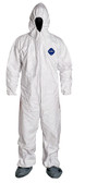 TYVEK® WHITE COVERALL W/ HOOD & BOOTS - Case of 25 ##14261 ##