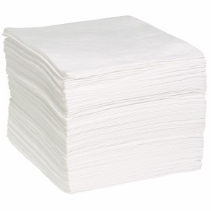 "15"" X 19"" Oil-Only Meltblown (White) Sorbent Pads  ## WP100M ##"