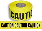 "Hi-Vis Yellow ""Caution"" Barricade Tape  ## CT100 ##"