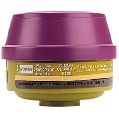 NOS75852P100 - Mercury Vapor / Chlorine Cartridge + P100 Particulate Filter  ## NOS75852P100 ##