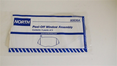 NOS80836A - 3 Peel Away Windows - Fits all North Full Face Respirators - Pack of 5  ## NOS80836A ##