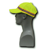 2-Tone Lime Green Ball Caps  ## HAT-13 ##