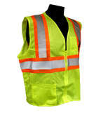 Class 2 Two-tone Safety Vests - Zipper Front  ##VEST 19 ##