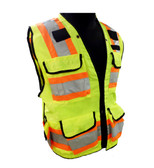 Heavy Duty Hi-Vis Surveyor Safety Vests - Class 2  ##VEST 34 ##