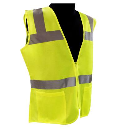 ERB Class 2 Hi-Vis Lime Green Safety Vest ##VEST 720 ##