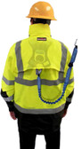 Three-in-One Hi-Vis Weatherproof Parka with Pass Through for Fall Protection and Fleece Lining