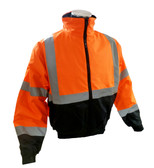 Class 3 Hi-Vis Orange Insulated Bombers ##H2O-INSUL ##