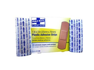 "Plastic 1"" x 3"" Adhesive Strips ## 1-200 ##"