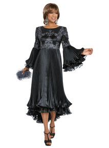 Donna Vinci Black 1 Pc. Dress 11793